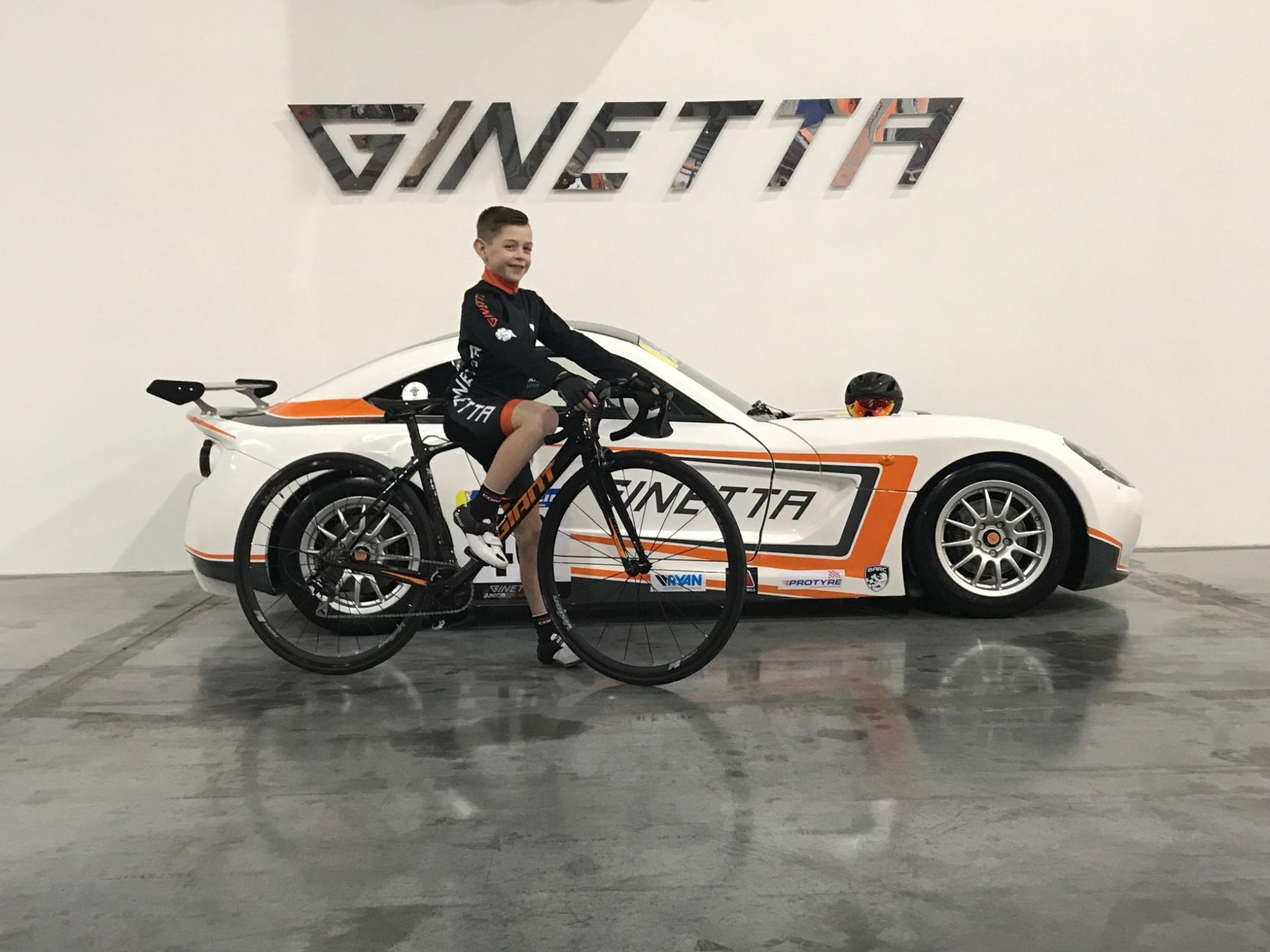 Ginetta Sponsors Local Garforth Youth Cyclist