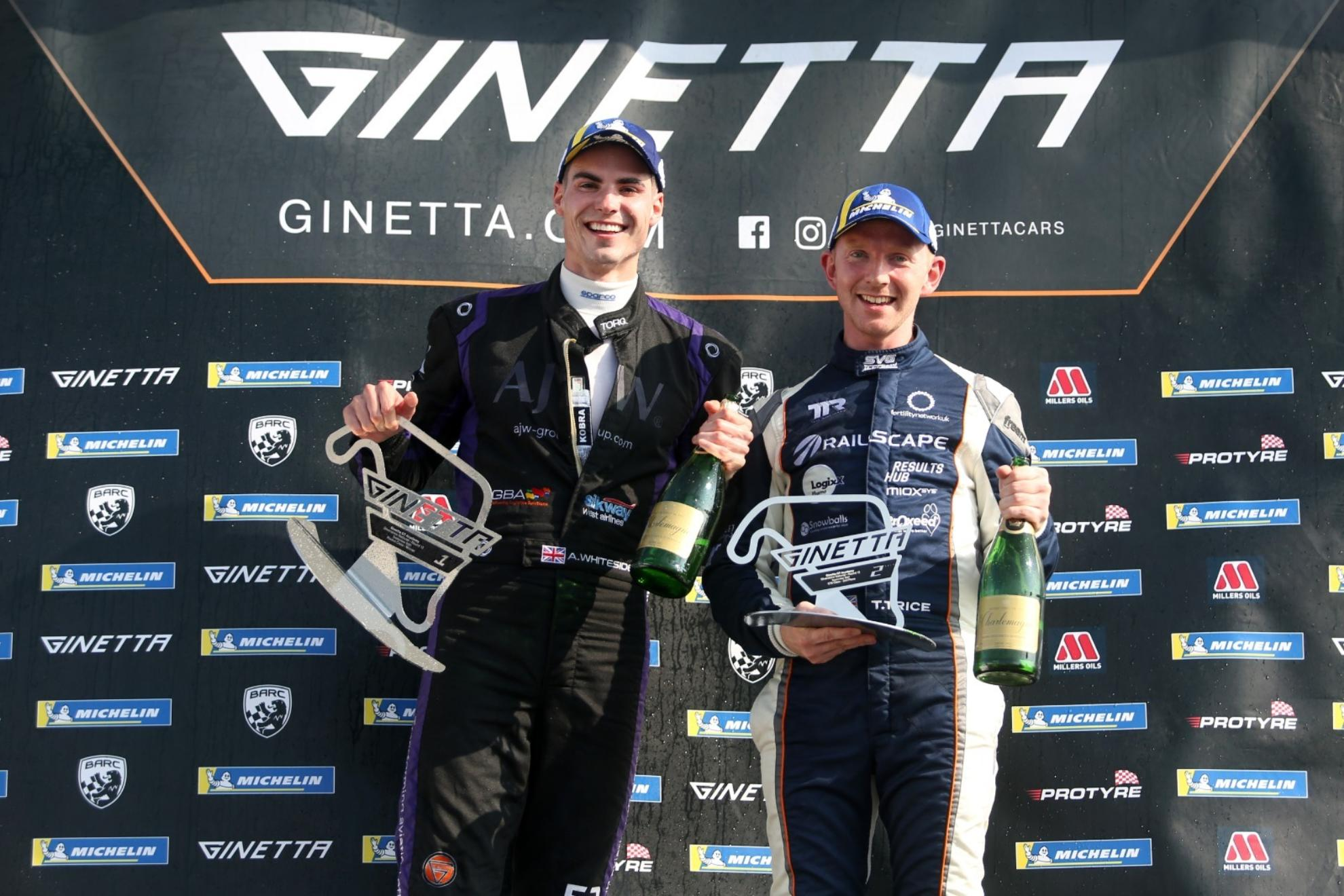 Trice And Whiteside Seal 2021 Ginetta GT Academy Titles