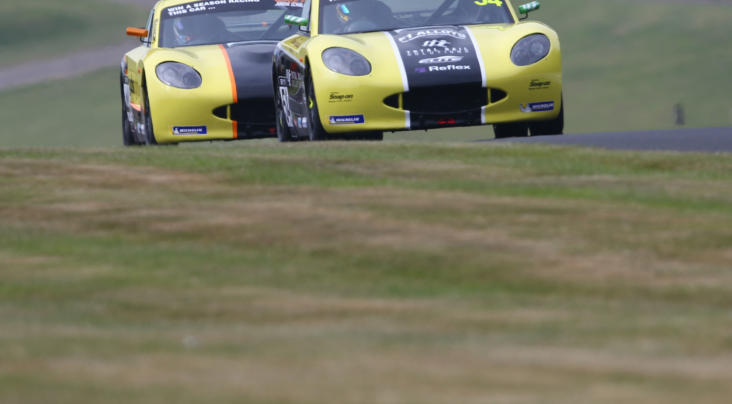 Adam Smalley and Luke Browning share Oulton Park spoils